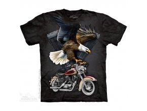 tričko, chopper, orel, batikované, potisk, motorka