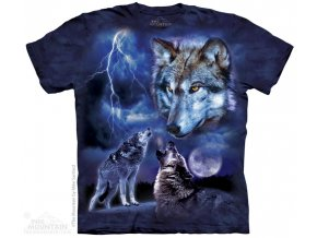 tričko s vlky