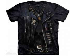 tričko-chopper-jezdec-potisk-batikované-oděv