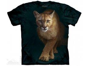 tričko, puma, potisk, batikované, mountain, unisex