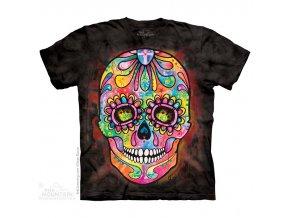 Tričko, lebka, mexiko, batikované, mountain, den mrtvých