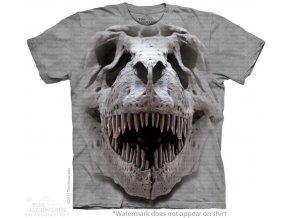 tričko, lebka dinosaura t-rexe, 3d, potisk, dětské, mountain