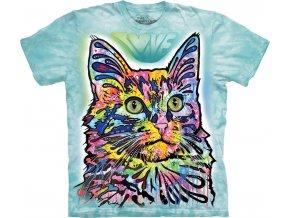 tričko angorská kočka potisk batikované