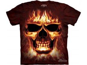 tričko-lebka-metalové-batikované-potisk-oheň