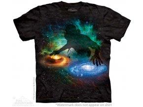 tričko, DJ, vtipné, galaxie, batikované,  potisk