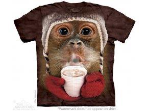 tričko, opice, orangutan, potisk, batikované, mountain
