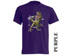 levne-detske-tricko-fialove-potisk-dinosaurus-raptor