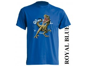 levne-detske-tricko-modre-potisk-dinosaurus-raptor