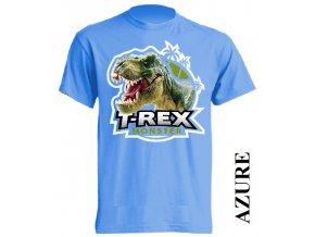 levne-detske-tricko-azurove-modre-monster-dinosaurus-tyranosaurus