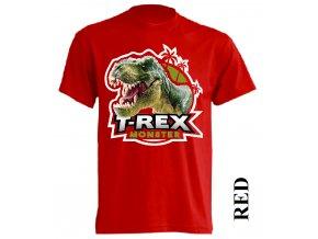 levne-detske-tricko-cervene-monster-dinosaurus-tyranosaurus