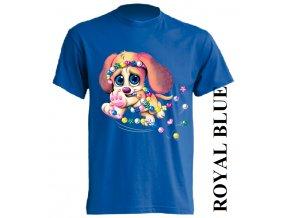 detske-tricko-pejsek-korálky-modre