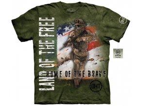 Tričko, military, vojáci, batikované, mountain, usa