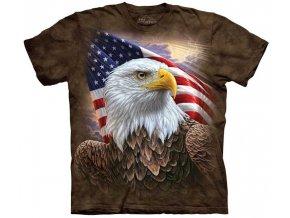 tričko-orel-usa-potisk-batikované-vlajka