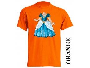 levne-detske-tricko-oranzove-potisk-princezna