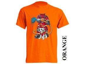 levne-detske-tricko-oranzove-pozarnik