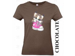 levne-damske-tricko-kote-bota-cokoladove-hnede