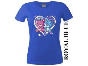 levne-damske-tricko-srdce-medvidci-modre