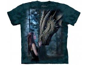 Tričko drak princezna dámské potisk batikované