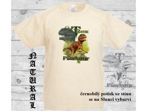 dinosaurus predator natural tricko