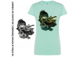 damske tricko zelene krokodyl