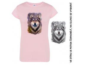 damske-modre-tricko-potisk-vlk-samotar-menici-barvu