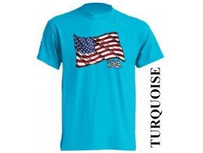 tyrkysove-tricko-usa-americka-vlajka