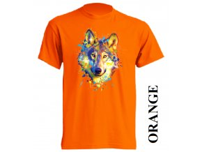 oranzove-tricko-barevny-vlk