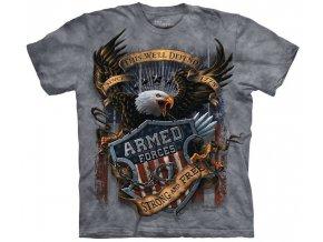 tričko, military, ozbrojené síly, batikované,  potisk, mountain
