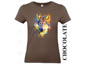 cokoladove-hnede-damske-tricko-barevny-vlk