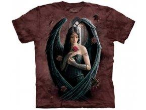 tričko anděl růže potisk batikované