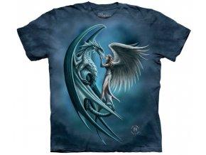 tričko drak anděl potisk batikované