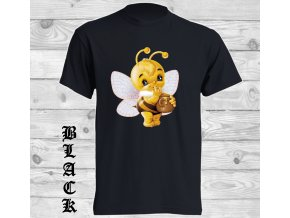 cerne tricko včelka