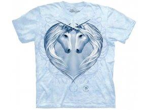tričko, jednorožec, srdce, batikované, potisk, erb