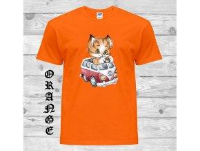 oranzove tricko hipie kote