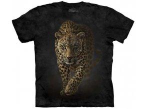 Tričko, leopard, pro páry, potisk, batikované, mountain