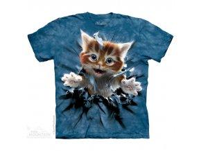 tričko, kotě, trhající tričko, potisk, mountain, dětské