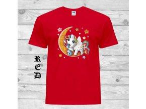 cervene tricko mesic jednorozec