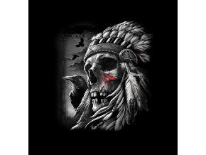 tricko lebka indian vrana