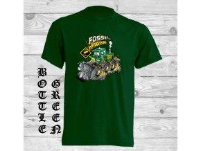 lahvove zelene tricko buldozer