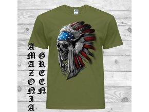 cerne tricko indian lebka