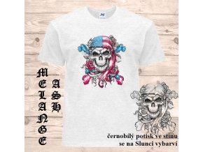 americky pirat sede tricko menici potisk