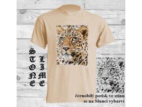 Sluneční tričko Hlava leoparda