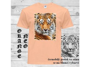 oranzove tricko hlava tygra