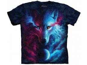 tričko, vlk, světlo a tma, batikované, potisk, magie