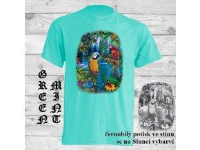 matove zelene tricko laguna papousku