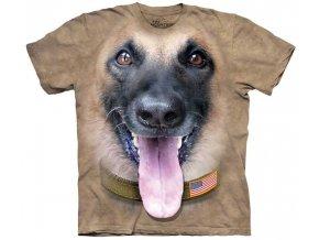 tričko pes belgický ovčák 3d potisk batikované