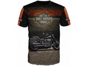 cerne tricko motorka Harley Davidson