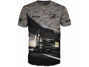 cerne tricko kamion MAN