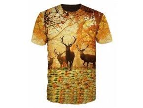 tricko jeleni v lese
