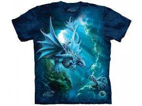 Tričko, mořský drak, moře, potisk, batikované, pohádkové